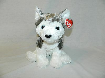 "Original 2001 TY  Classic 11"" plush HUSKY w Blue Eyes SLUSH w Mouth NEW w TAG"