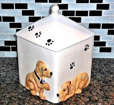 Rare Retired Yellow Golden Labrador Retriever Treat Cookie Jar Big Sky Carvers