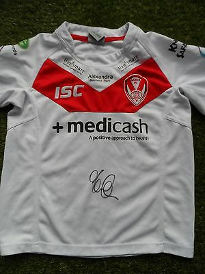 KEIRON CUNNINGHAM Hand Signed St Helens 2011 Rugby League Shirt - Autograph