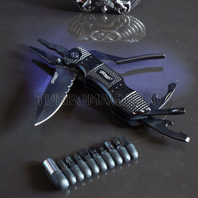 7.72in WALTHER MULTI TAC PRO MULTI TOOLS SURVIVAL CAMPING OUTDOOR KNIFE U3