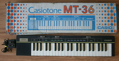 Vintage Retro 1980S Casiotone Mt-36 Keyboard Electronic Piano Music Pwo Boxed Ex