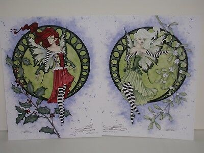 Amy Brown - Christmas Faeries - SIGNED - Print Set - New