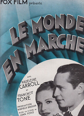 1934 LE MONDE EN MARCHE = The World Moves On > John FORD Madeleine Carroll TONE