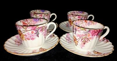 Spode Chelsea Garden R.9781 4 Tea Cup and Saucers (8 Sets Available)