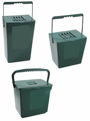 ODOUR FREE Kitchen Compost Bin Food Waste Storage Caddy Set Liners Bags Filters
