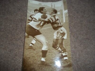 Vintage Rugby League Press Photo Hull V Hunslet 6Th March 1965