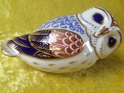 Royal Crown Derby OWL Paperweight - GOLD Stopper