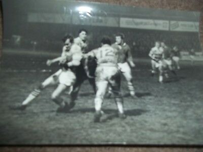 Vintage Rugby League Press Photo Hull V Salford 28Th January 1969 Gemmell Edson