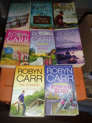 LOT OF 8 Novels by Robyn Carr (Paperback )