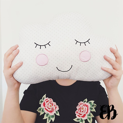 Sass & Belle Sweet Dreams Cloud Cushion 100% Cotton Polka Dot UK Seller