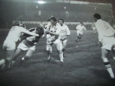 Vintage Rugby League Press Photo Hull V Widnes October 1968 Brown & Firth