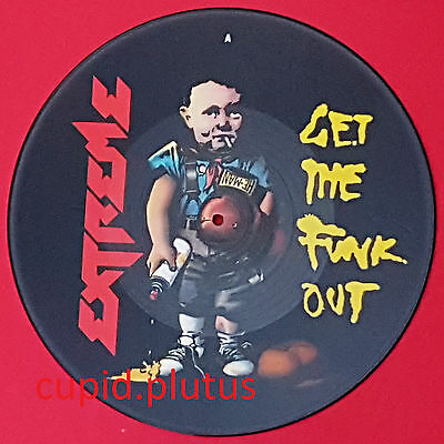 """Vintage 1991 EXTREME Get The Funk Out 12"""" Picture Disc Limited Edition (Rare)"""