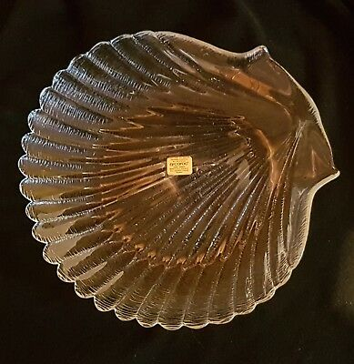 ARCOROC France Scallop Shell  Glass Dish