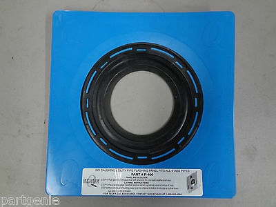 """Quickflash P-400 Utility Pipe Flashing Quick Flash 4"""" Plumbing 5"""" Vent Duct"""