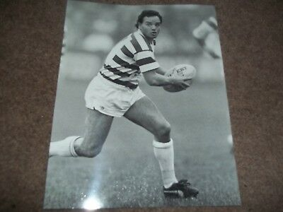 Rugby League Press Photo Black & White Gary Stephens Halifax 4Th October 1987