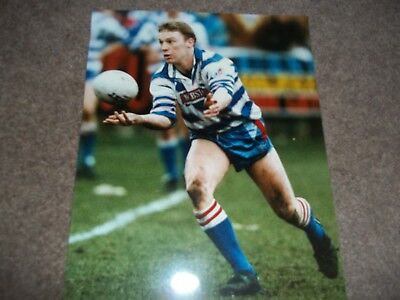 Rugby League Press Photo Colour Jimmy Irvine Halifax 19Th January 1992
