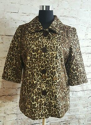 Thanx Collection THX career jacket Blazer Leopard print size large button front