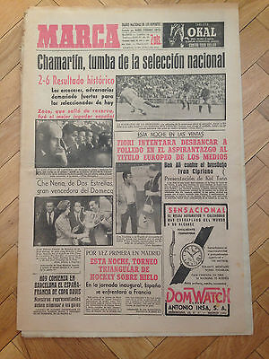 Marca 14 June 1963 Spain 2-6 Scotland Chamartin Zoco Adelardo Veloso Friendly