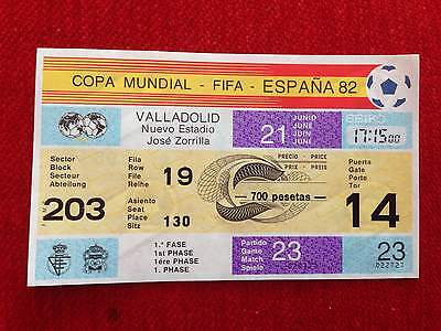 Entrada Ticket Mint World Cup Spain 1982 Wc82 France Kuwait Match 23 Unused