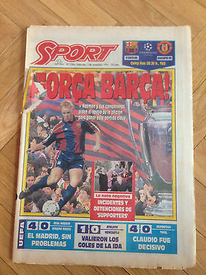 Barcelona Spain Manchester United England Uefa Champions League 1994 1995