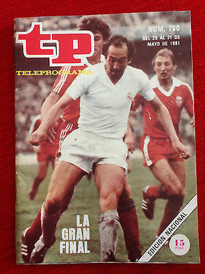 Real Madrid Spain Liverpool England Final European Cup 1980 1981 Tp Magazine