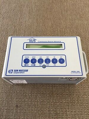 Sun Nuclear 1028 Continuous Radon Monitor (CRM) Detector Machine Calibrated