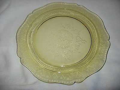 """Nice Patrician Glass Platter Federal Glass Co. Amber 11 1/2"""""""
