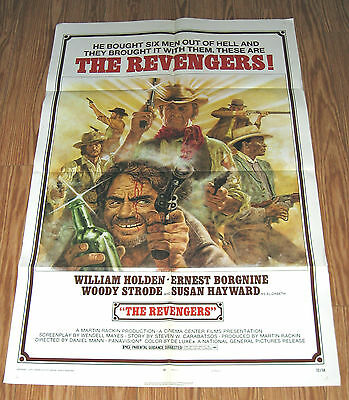 THE REVENGERS 1972 Original MOVIE POSTER western William Holden