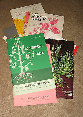 Lot Vintage Agriculture and Gardening Booklets