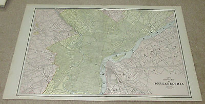 1890 ORIGINAL Map - Philadelphia - Washington, Baltimore
