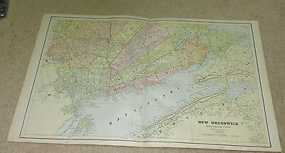 1890 ORIGINAL Map - New Brunswick Southern Part
