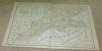 1890 ORIGINAL Map -  South Western part of Ontario
