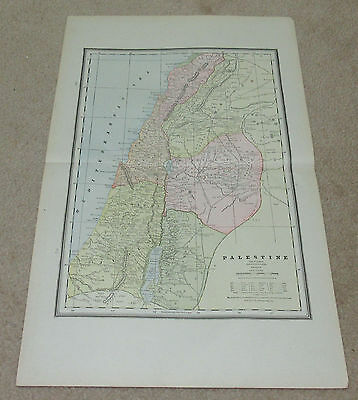 1890 ORIGINAL Map -  Palestine, Persia, Cental Asia