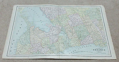 1890 ORIGINAL Map - Central Ontario