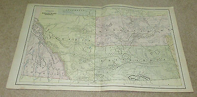 1890 ORIGINAL Map -  Centrral North West (Alberta Saskatchewan Assiniboia)