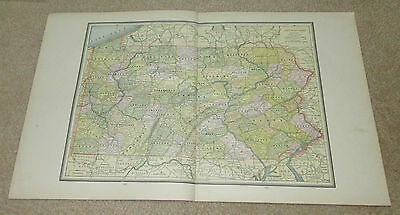 1890 ORIGINAL Map - Pennsylvania, Maryland and Delaware, Virginia