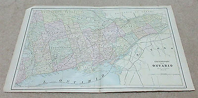 1890 ORIGINAL Map - Eastern part of Ontario
