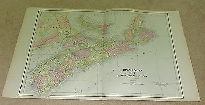 1890 ORIGINAL Map -  Nova Scotia and Prince Edward Island