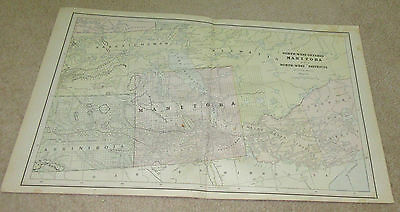 1890 ORIGINAL Map - NW Ontario Manitoba and NW Districts