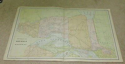 1890 ORIGINAL Map - North Western Part of Ontario