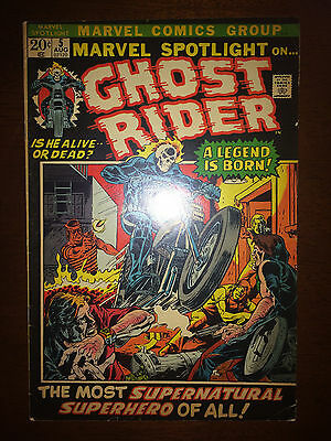 Marvel Spotlight 1972 #5 First Printing Marvel Comic Book. 1st Ghost Rider