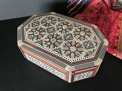 Old North African Inlaid Jewelry Box …beautiful detail