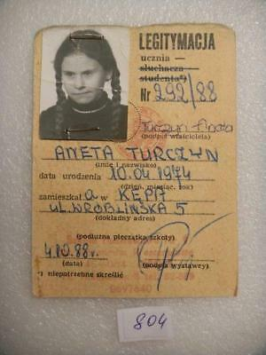 Old Poland Student ID 1988