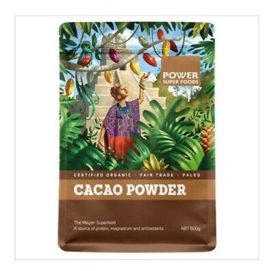 ✅Organic Cacao Powder Power® Super Food Raw Natural Cocoa Health 500g