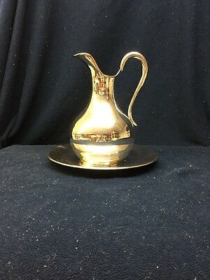 Silver Pitcher With Plate