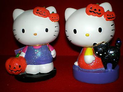 Hello Kitty Halloween Figures By Sanrio Pumpkins Black Cats New Cute