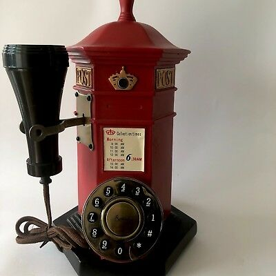 Vintage English Post Box Telephone