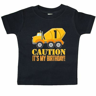 Inktastic 1st Birthday Construction Truck, Cement Mixer -one  Year Baby T-Shirt