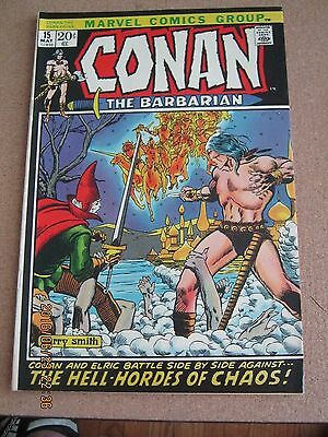 Conan The Barbarian # 15 May 1972 Marvel - 2nd Elric - Barry Windsor Smith