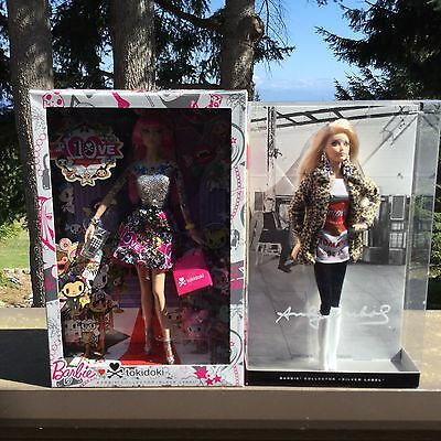 NEW  Barbie Andy Warhol Campbell Soup Collector & Tokidoki Collector Dolls